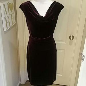NWOT Purple Velvet Jessica Howard Dress 16